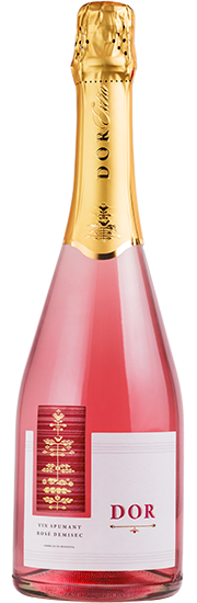 Игристое розовое полусухое вино
